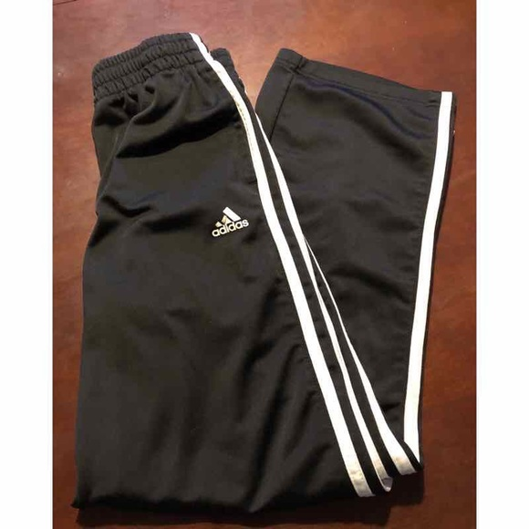 Adidas Black/White kids pants size 10/12